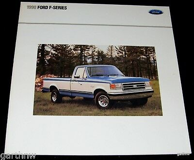 Ford 1990 F-Series Pickup Pictorial Brochure F-350 F-150 Supercab Crew Lariat Xl