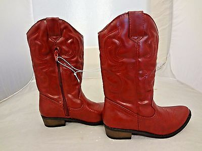 Cherokee Gregoria Red Western Cowboy~Cowgirl Boots~Girls Youth 3 4 5 6