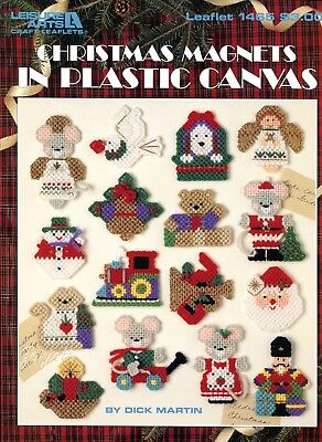 Christmas Magnets ~  16 Holiday Fridgies Motifs plastic canvas patterns NEW