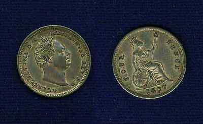 "G.b./u.k./england William Iv  1837  4 Pence Silver Coin, Also Called A ""groat"""