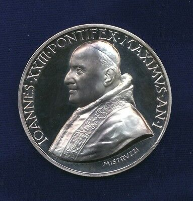 "Vatican ""mistruzzi""  Pope John Xxiii  Proof Silver Medal, 45Mm, Gem Proof!"