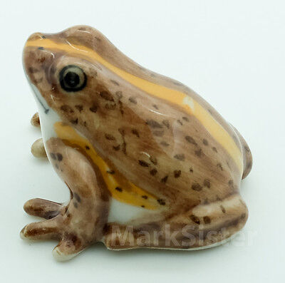 Figurine Animal Ceramic Statue Spotted Glass Frog - CAF037