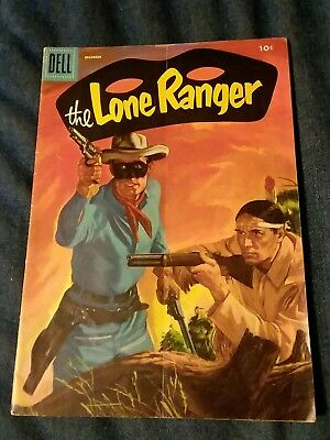 The Lone Ranger #90 (1955 Dell) vg golden age movie western lot run collection