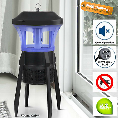 Electric Insect Killer UVA Light Waves Indoor Outdoor Zapper Bugs Trap Quiet NEW
