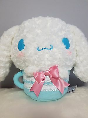 "Sanrio Cinnamoroll Plush Stuff Animal Toy in Cup 12"" Tall - BRAND NEW with tag"