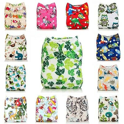 Novel Waterproof Adjustable Washable Baby Cloth Diapers Infant Reusable Nappys