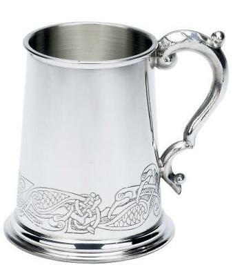 NO.PPT-120-0007 Fancy Celtic Design Fine English Pewter Tankard