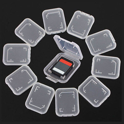 6 x Plastic Case Holder Box Storage Without Card Standard SD SDHC Memory Cards