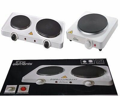 2500W / 1500W Portable Double And Single Electric Hot Plate Cooking Hob Cooker