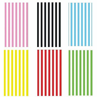 12 Paper Stripe Party Bags - Candy Treat Sweet Gift Pick N Mix Bags - 6 Cols