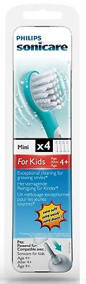 4 x Philips Sonicare HX6034 For Kids Mini Toothbrush Heads