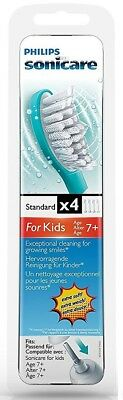 4 x Philips Sonicare HX6034 For Kids Standard Toothbrush Heads