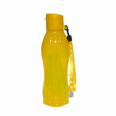 Tupperware NEW Eco 500ml Sports Water Bottle Flip Cap & Wrist Strap Yellow