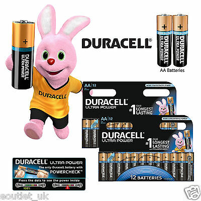Duracell Ultra Power AA Batteries Size Alkaline MX1500 LR6 MIGNON Pack of 24 NEW