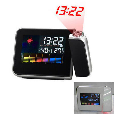 Projection Digital Weather LCD Snooze Alarm Clock Display LED Backlight New Hot