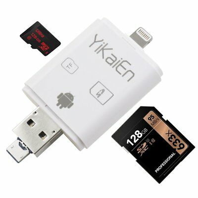 YiKaiEn iReader USB SDHC SDXC Micro SD OTG Card Reader Support Photo Scrolling T