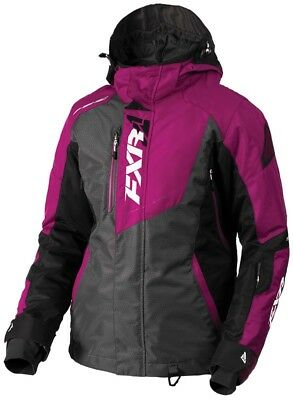 FXR Vertical Pro Womens Snow Jacket Charcoal/Wineberry