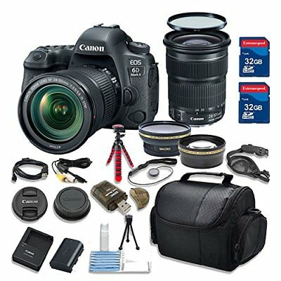 Canon EOS 6D MARK II 26.2 MP Camera HD Video with Canon EF 24-105mm Lens Bundle
