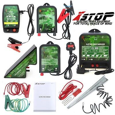 12v 230v Battery 1-120Km Range Electric Fence Energiser + Accessories Components