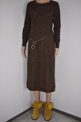 Gorgeous vintage 70's Sweater dress multi color mohair sweater tunic knit skirt