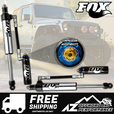 "Fox 2.5 Factory Series Front Resi Shocks w/DSC For 07-18 Jeep JK 2.5-4"" Lift"