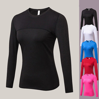 Women Sports Long Sleeve T-Shirt Slim Breathable Fast-dry Running Fitness Tops