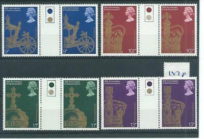 wbc. - GB - COMMEMS - 1978 - CORONATION - GUTTER PAIRS - T/LIGHT - UNM MINT SETS