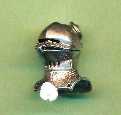 Vintage Sterling Silver Movable Opening Medieval Knight Armour Helmet Charm