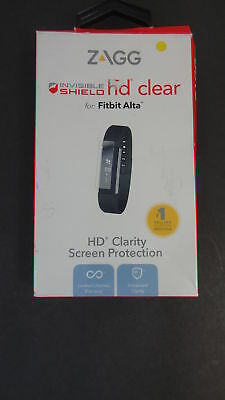 New Zagg Invisible Shield HD Clear Screen Protection Cover for Fitbit Alta