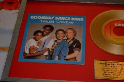 GOOMBAY DANCE BAND holz  bild single 7'' GOLD RECORDS Fanartikel sammlung