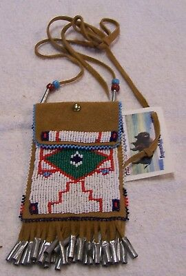 Hand Made Beaded Neck Pouch Rendezvous Black Powder Mountain Man 41