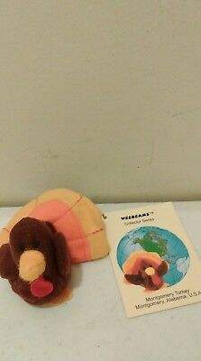 1997 Princess Soft Toy Montgomery Turkey Weebeans Collector Series Thanksgiving