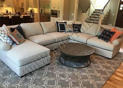 Pottery Barn Scroll Tile Rug Gray Ivory 3x5 Persian Wool New In Wring