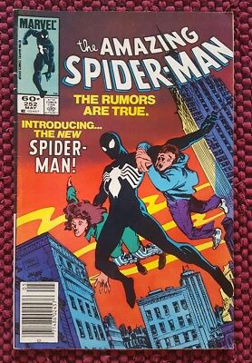 Amazing Spider-man 252 Black Costume! Spiderman key!