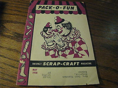 Pack O Fun Scrap-Craft Magazine 1958 May