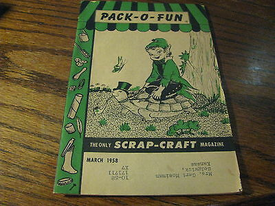 Pack O Fun Scrap-Craft Magazine 1958  March