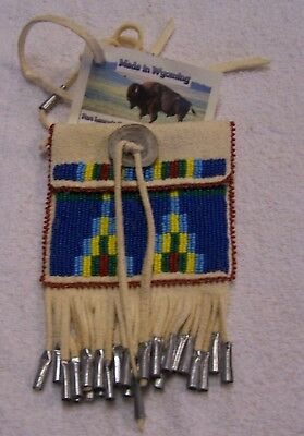 Hand Made Beaded Neck Pouch Rendezvous Black Powder Mountain Man 47
