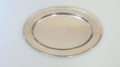 """ALVIN Sterling Silver 16"""" Oval Serving Platter or Tray, # S121, 780 grams"""
