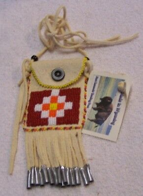 Hand Made Beaded Neck Pouch Rendezvous Black Powder Mountain Man 48