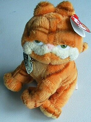"""7"""" TY Beanie Babies Cool Cat GARFIELD Supersoft Plush Doll NWT Free Shipping"""
