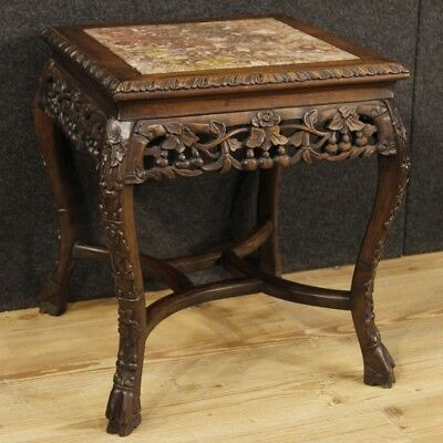 Small table wood furniture low chinese living room level marble antique style