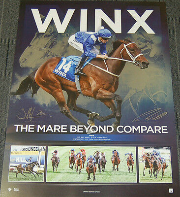 Winx The Mare Beyond Compare Dual Signed Limited Edition Cox Plate Winner Print