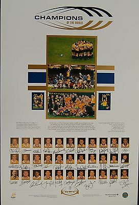 Wallabies 1999 World Cup Champions team signed limited Print Eales Greegan