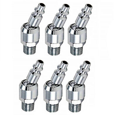 "6pc Industrial Swivel 1/4"" NPT Male Quick Connect Air Tool Fittings"