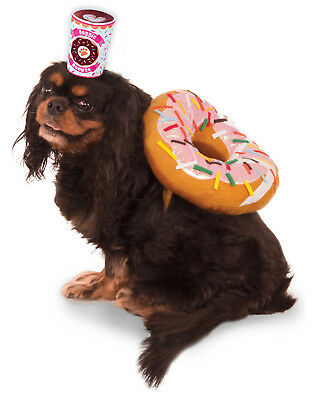 Morning Breakfast Donut And Coffee Latte Pet Dog Cat Costume