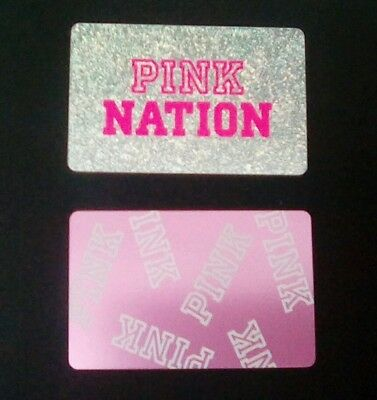 Two Victoria's Secret Pink Gift Cards, PINK NATION, PINK,  Collectible, Mint