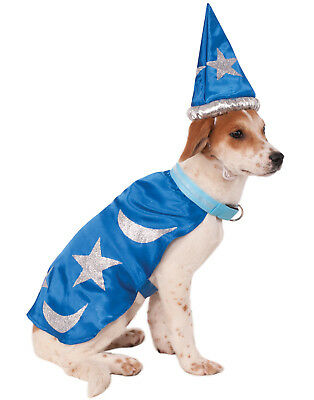 Light Up Pet Wizard Merlin Dog Cat Cape With Headpiece Costume