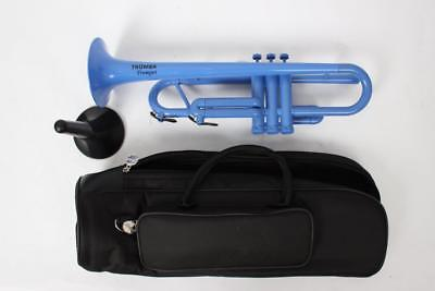 Plastic Blue Tromba Trumpet With Bag & Stand
