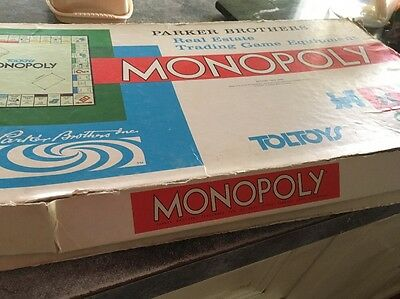 Vintage Monopoly Board Game - Toltoys 1960s Spare Parts