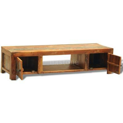 Reclaimed Wood TV Cabinet with 2 Doors Vintage Antique-style R6N7